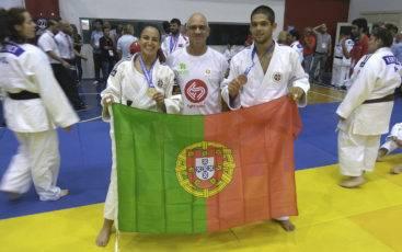 Joana Santos, João Machado e Jerónimo Ferreira no Mundial de Surdos 2016